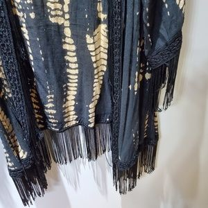 Urban Outfitters Tops - UO Staring at the Stars tie dye fringe kimono